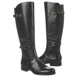 Shoes - Naturalizer Wide Shaft Leather Janelle Boots